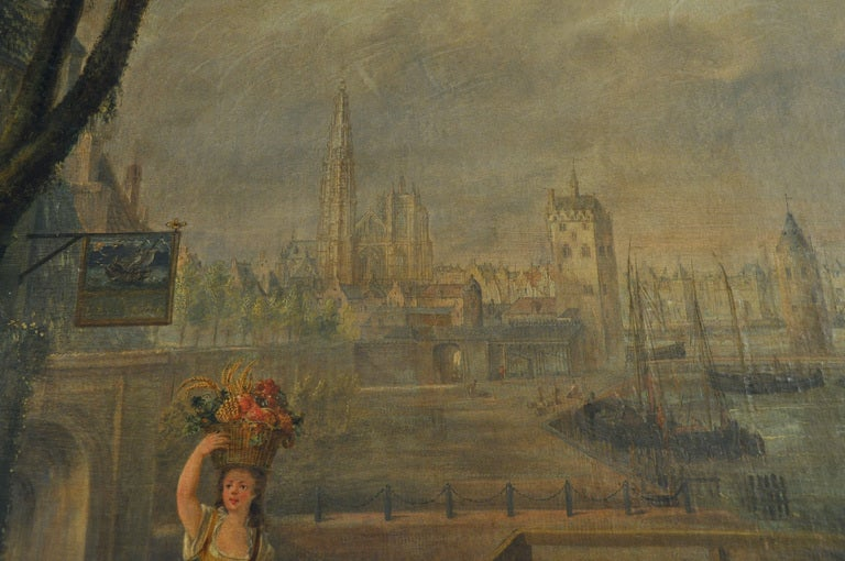 Large 18th Century French Oil Painting on canvas For Sale 4