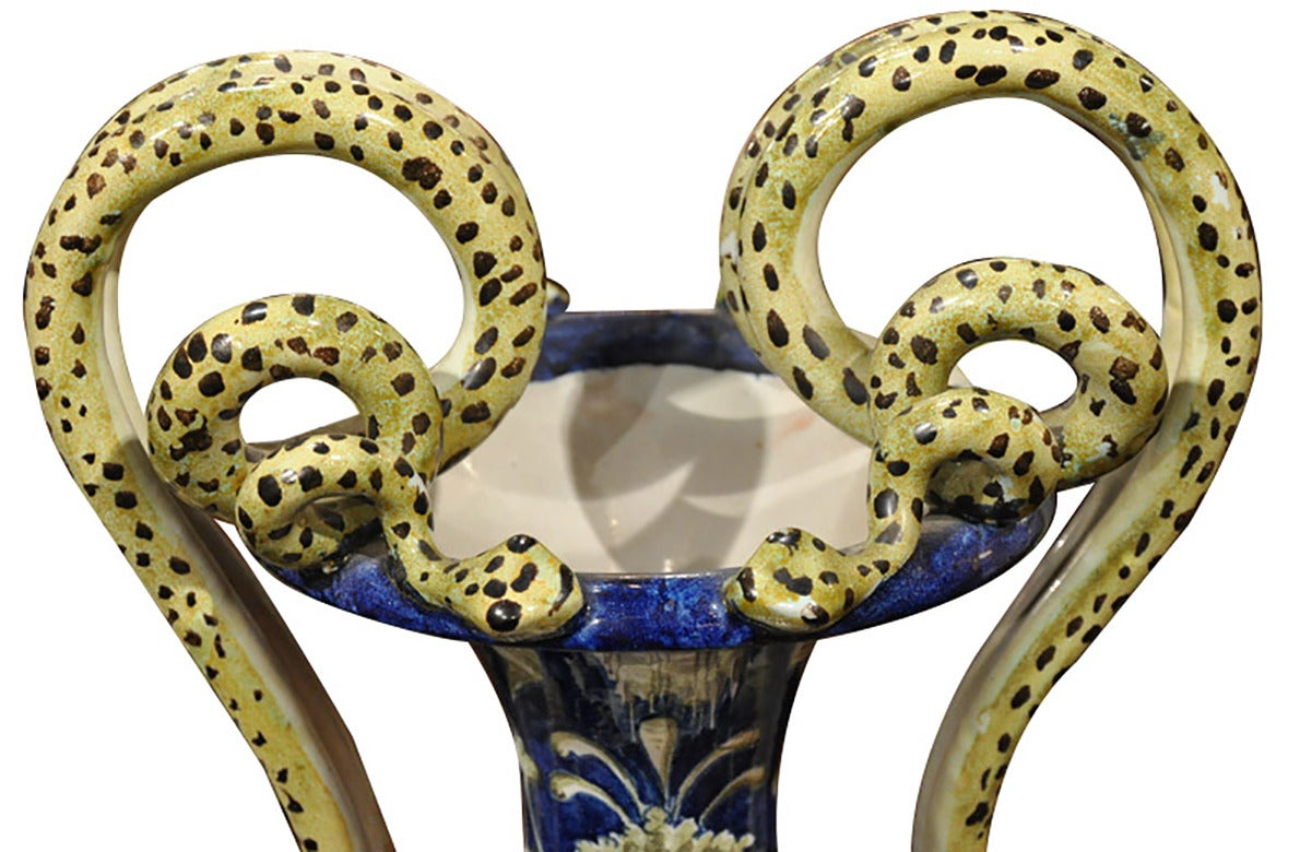 Pair of antique 19th century majolica italian vases at 1stdibs pair of antique 19th century majolica italian vases in excellent condition for sale in dallas reviewsmspy