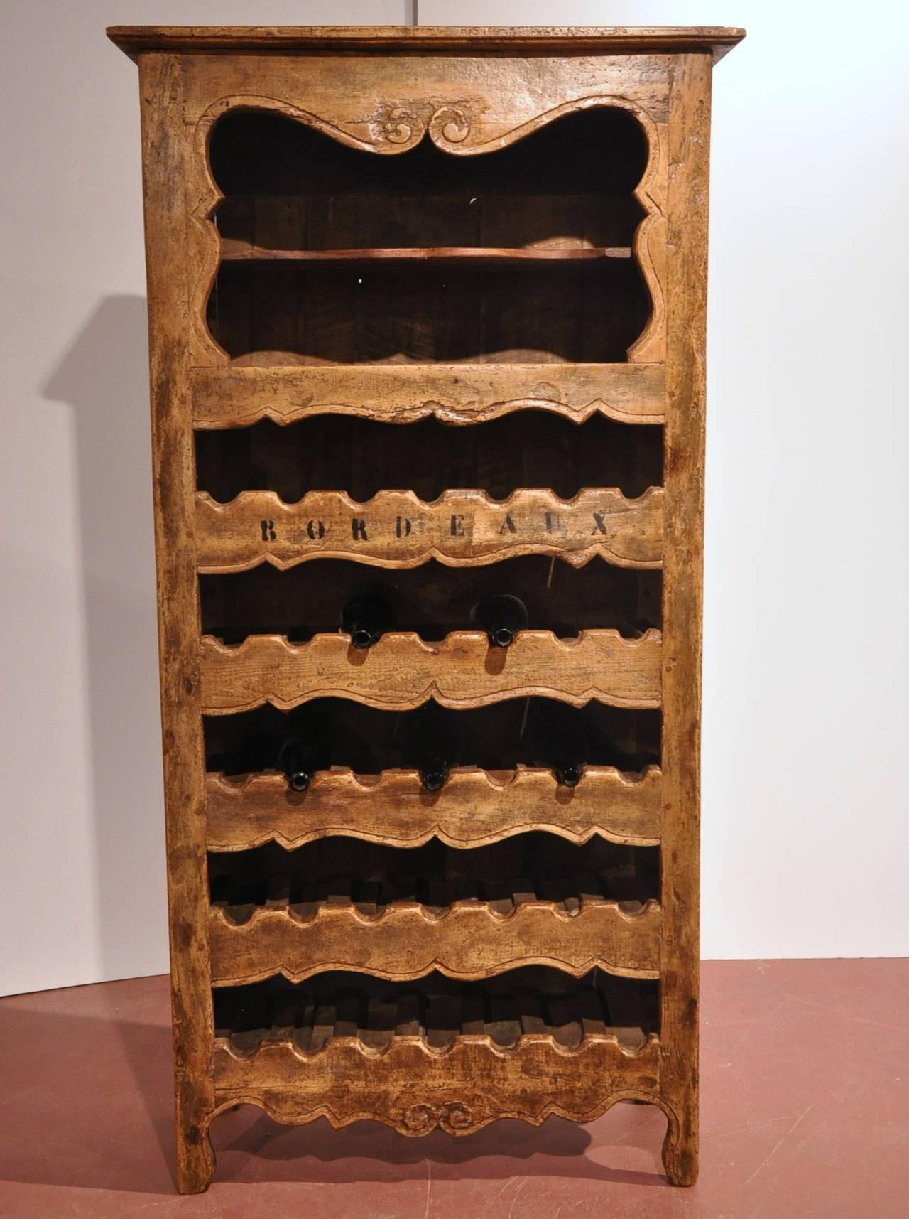 Antique wine bottles holder cabinet from the Poitou region of France. A  great accent piece - Antique Wine Bottle Holder Cabinet At 1stdibs