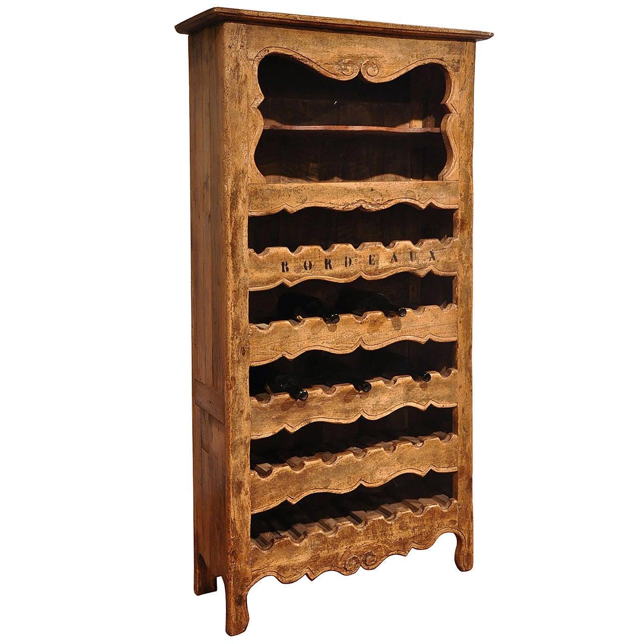 Antique Wine Bottle Holder Cabinet 1 - Antique Wine Bottle Holder Cabinet At 1stdibs