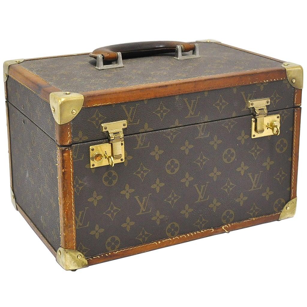 Vintage Louis Vuitton Leather Box At 1stdibs