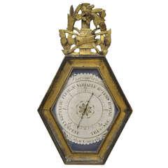 18th Century Louis XVI Goldleaf Barometer