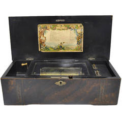 Antique French Music Box