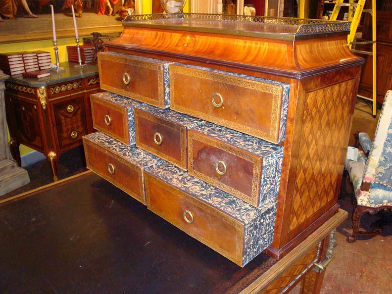19th c louis xvi writing desk bureau with leather top at for Bureau louis xvi