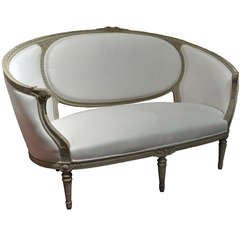 19th C. French Louis XVI sytle painted Canapé Sofa