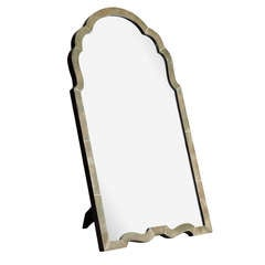 Superb Art Deco Shagreen Arch-Top  Mirror c.1920