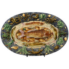 Vintage Palissy Fish Charger