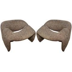 Pair 1970's  Pierre Paulin armchairs by Artifort