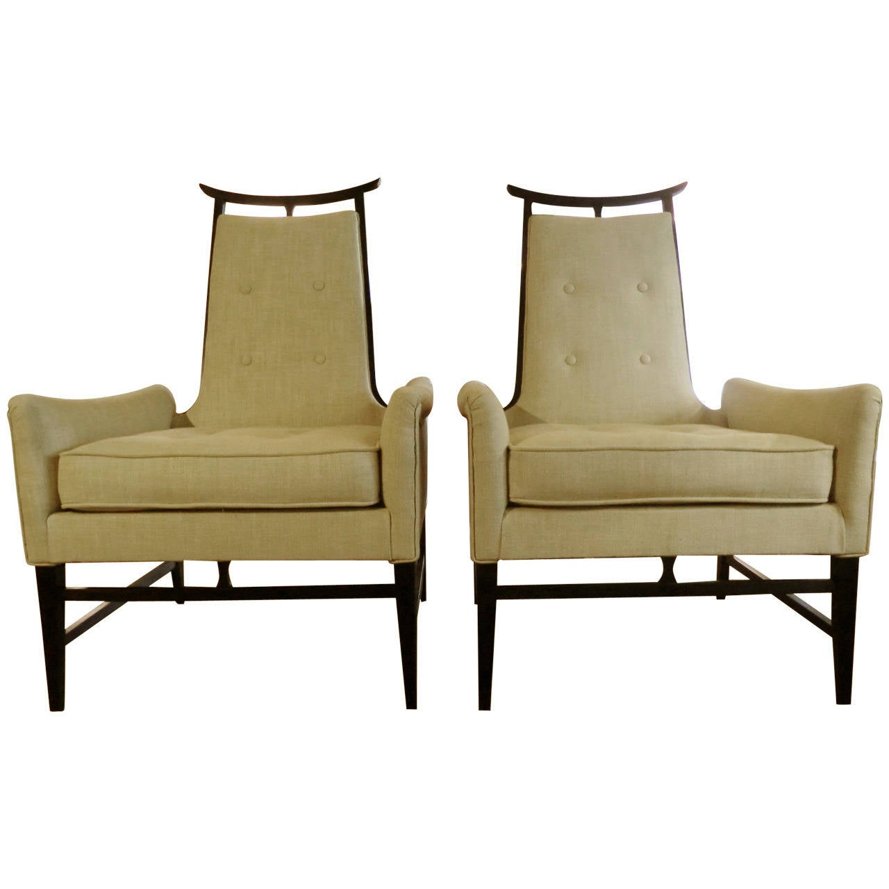 1950s Chinoiserie French Armchairs At 1stdibs