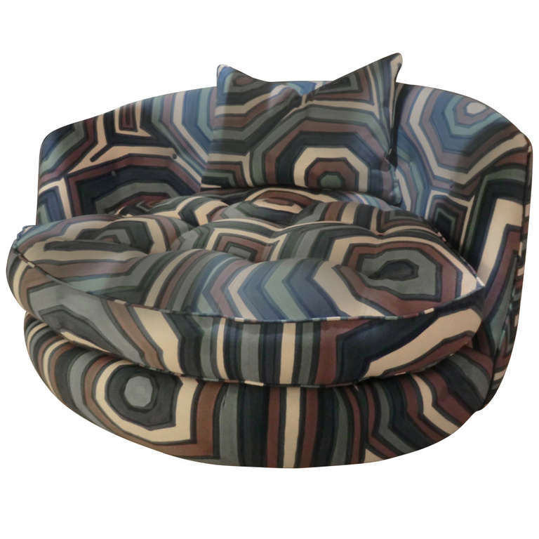 Adrian Pearsall Swivel round Lounge Chair at 1stdibs