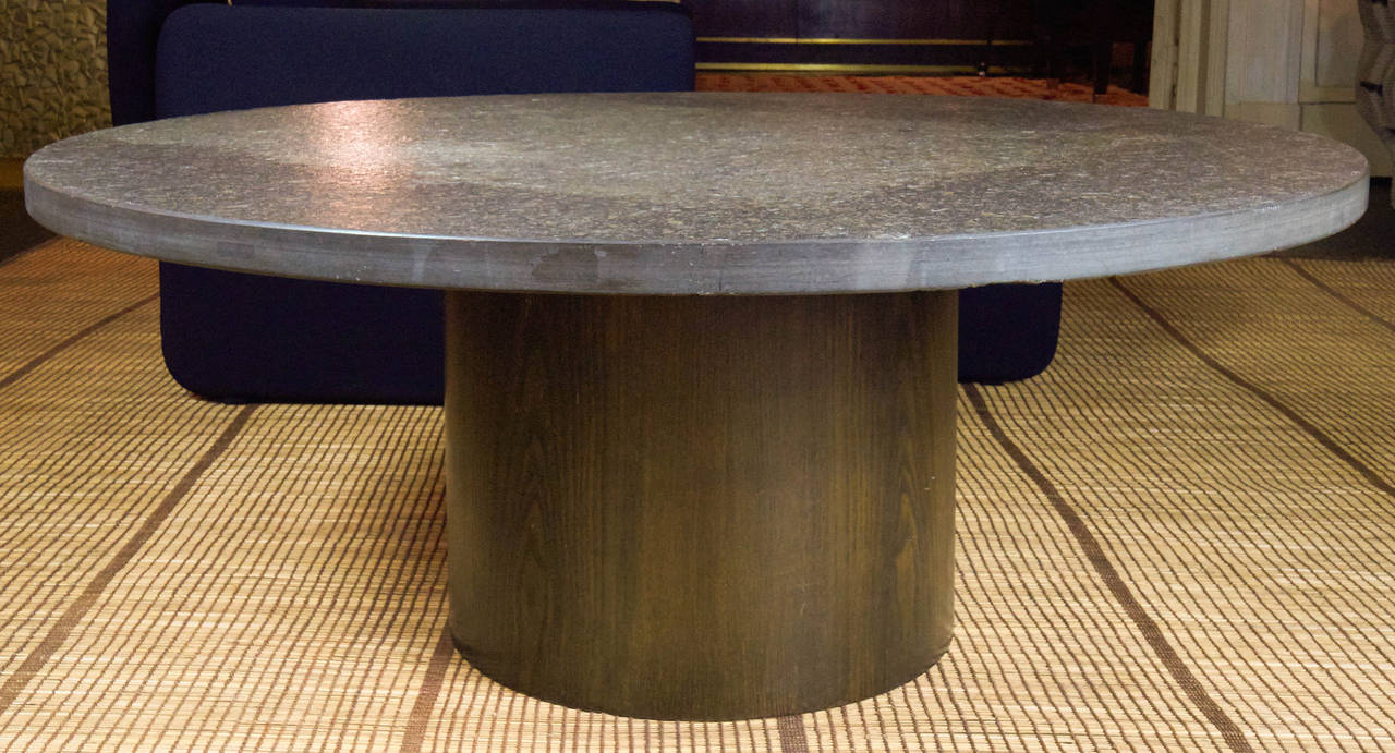 1970s Grey Slate Stone Coffee Table By Draenert Studios At 1stdibs