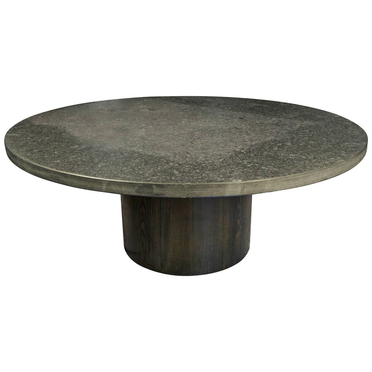 Metal Coffee Table With Slate Tiles: 1970s Grey Slate Stone Coffee Table By Draenert Studios At