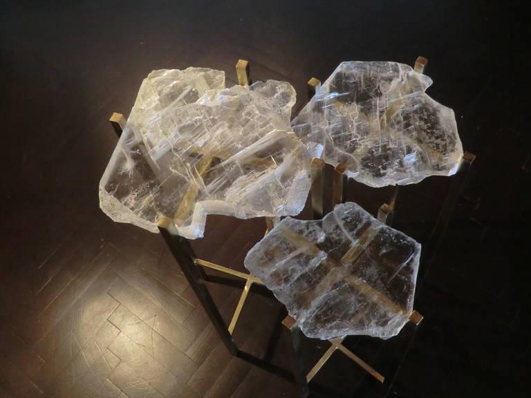1970s Italian Gypsum Crystals Side Tables At 1stdibs