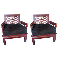 19th c. Chinese Armchairs