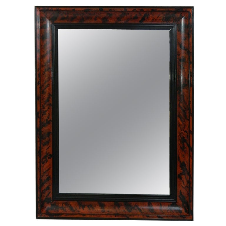 Faux Picture Frames On Walls : Faux tortoise shell finished mirror frame with black