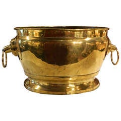 18th Century French Brass Jardiniere with Handles