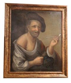 Dutch or German School, Portrait of an Old Man, Oil on Canvas, 18th-19th Century