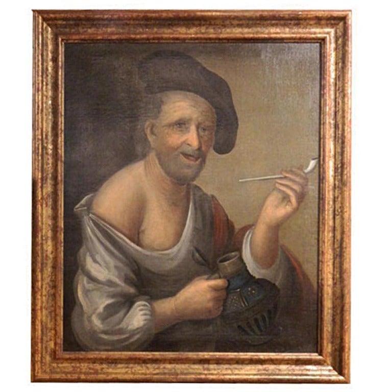 Dutch or German School, Portrait of an Old Man, Oil on Canvas, 18th-19th Century 1