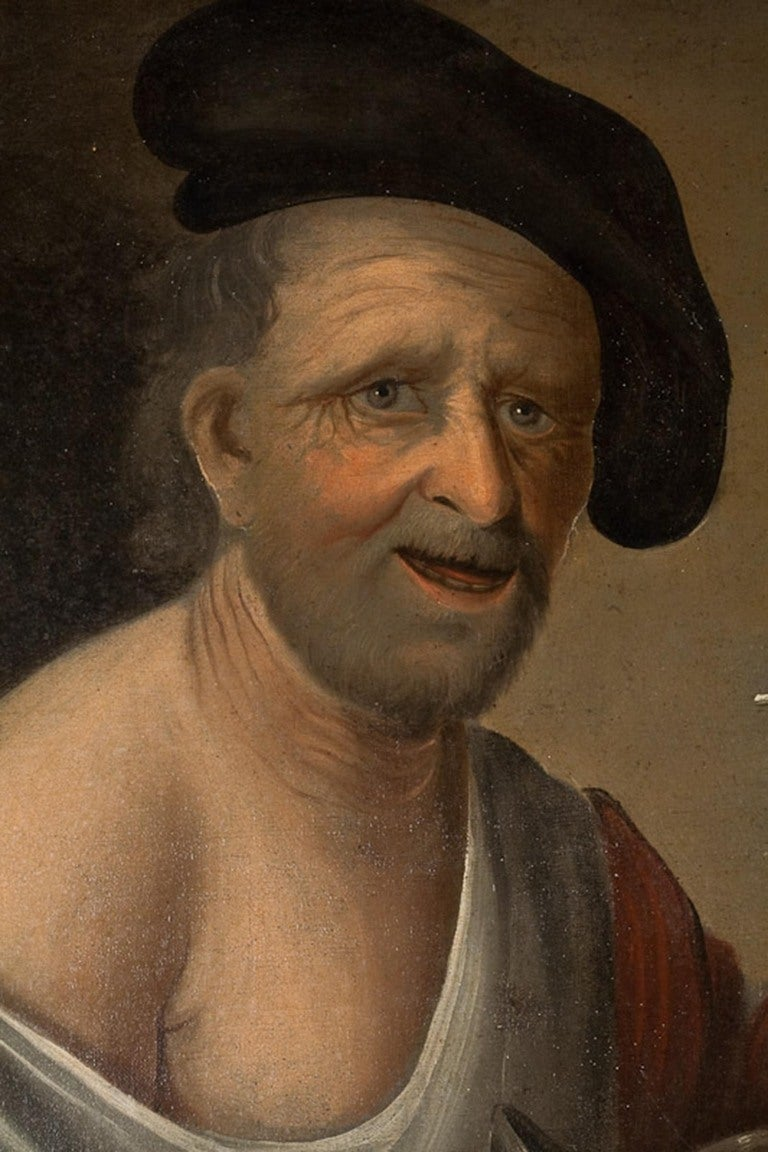 Dutch or German School, Portrait of an Old Man, Oil on Canvas, 18th-19th Century 3