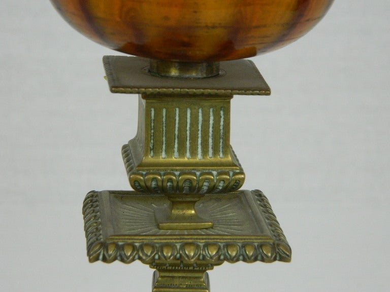 Pair of English Townshend & Co. Gas Table Lamps, circa 1880 4