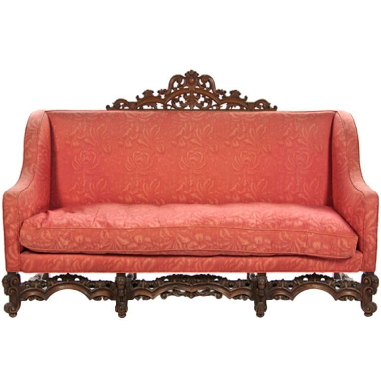 a renaissance revival canape or sofa at 1stdibs. Black Bedroom Furniture Sets. Home Design Ideas