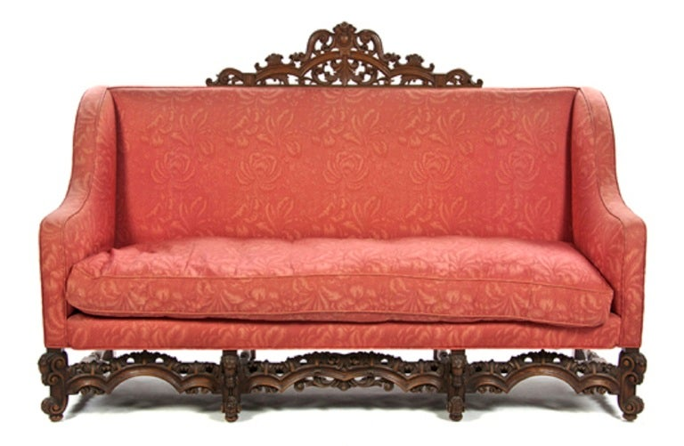 A renaissance revival canape or sofa at 1stdibs - Canape cognac ...