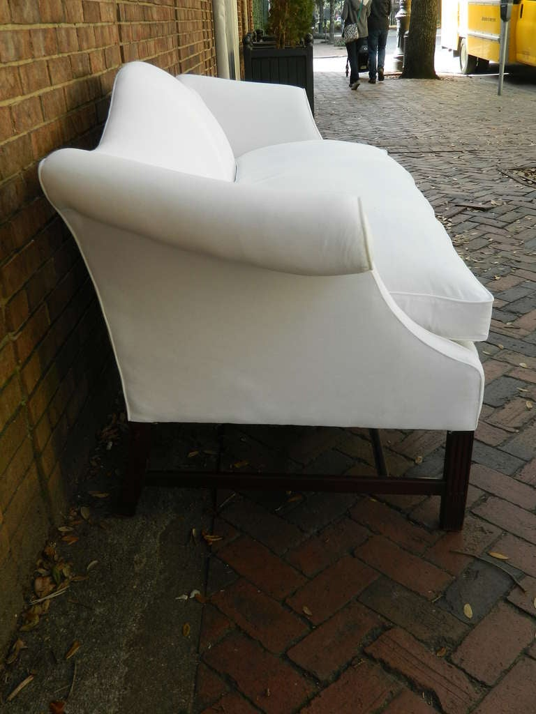 19th Century Chippendale Mahogany Camelback Sofa At 1stdibs