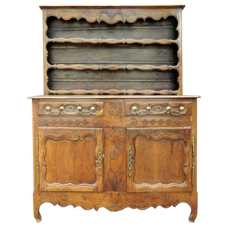 French Oak Provincial Vaisselier, 19th Century