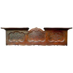 French Walnut Hanging Wall Shelf, 19th Century