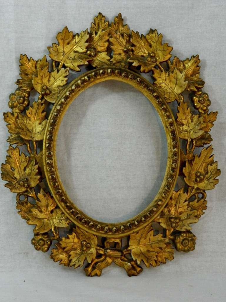 19th Century Italian Gold Gilt Leaf Carved Mirror Or Frame