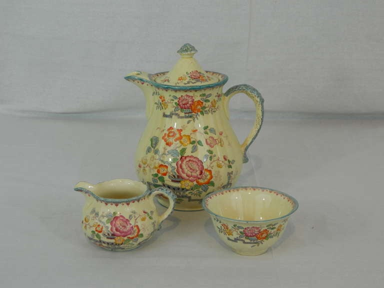 English Set of Mason's Ashworth Earthenware Serving Service, Late 19th Century For Sale