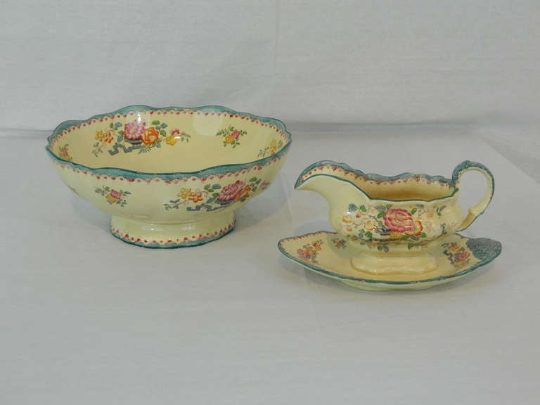 Set of Mason's Ashworth Earthenware Serving Service, Late 19th Century In Excellent Condition For Sale In Savannah, GA