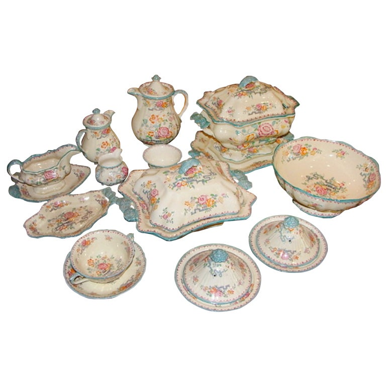 Set of Mason's Ashworth Earthenware Serving Service, Late 19th Century