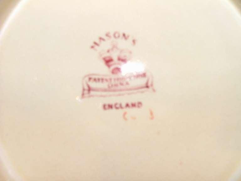 Sixty Three Piece Set of Mason's ashworth earthenware ironstone transfer  service