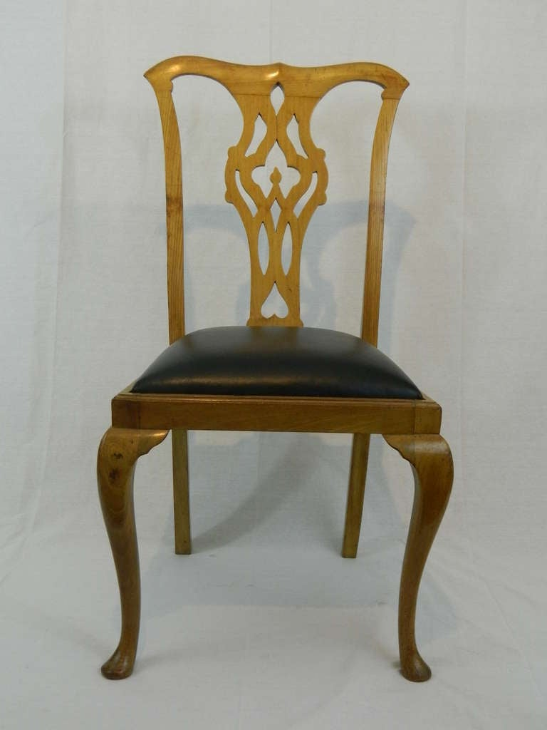 English 19th Century Set of Four Chippendale Style Side Chairs For Sale