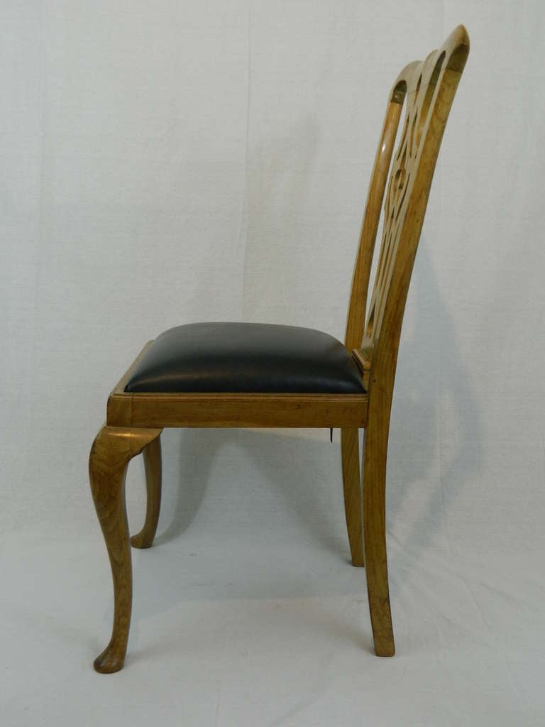 19th Century Set of Four Chippendale Style Side Chairs In Excellent Condition For Sale In Savannah, GA