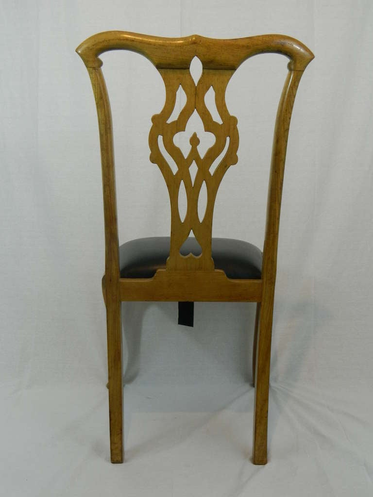 19th Century Set of Four Chippendale Style Side Chairs For Sale 1