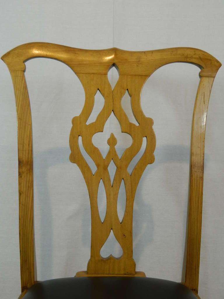 19th Century Set of Four Chippendale Style Side Chairs For Sale 2