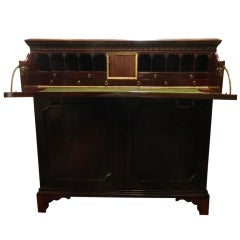 Circa 1825 English Mahogany Butlers Desk