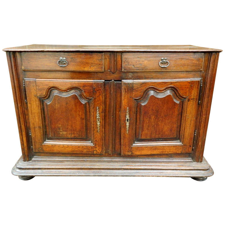 19th Century French Oak Louis XIV Style Buffet