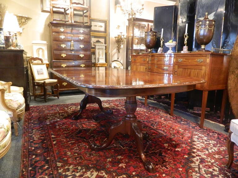 English Double Pedestal Mahogany Dining Table 2