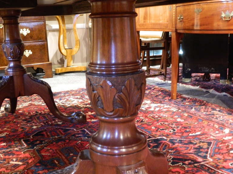 English Double Pedestal Mahogany Dining Table 4