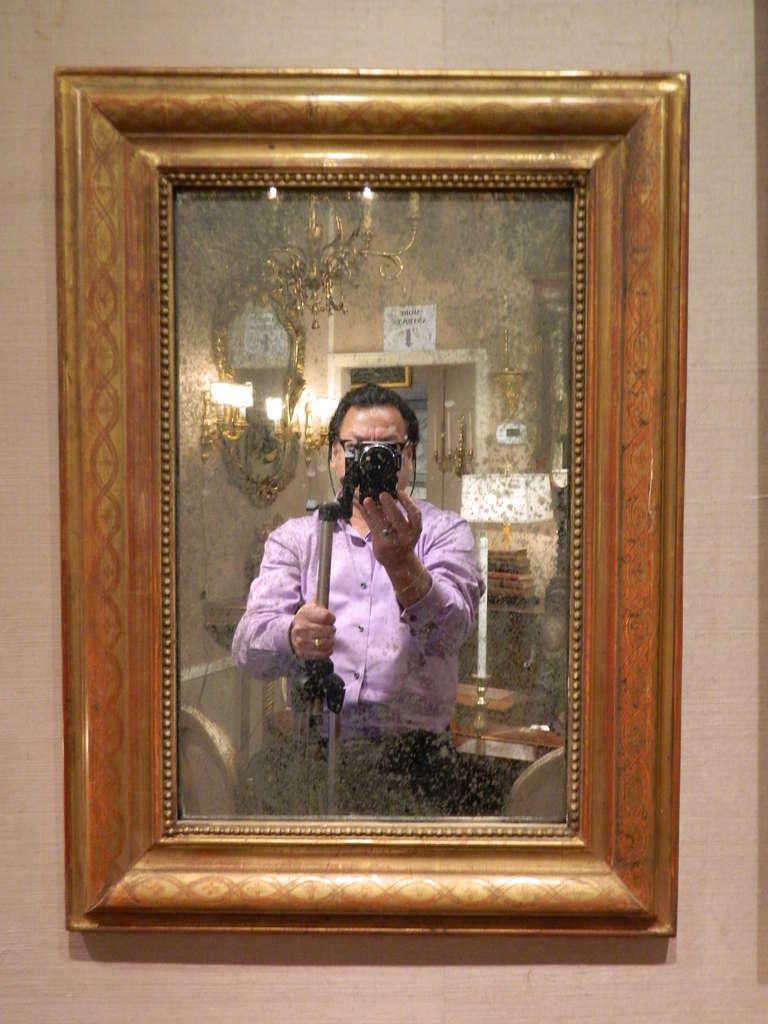 19th century Louis Philippe mirror.