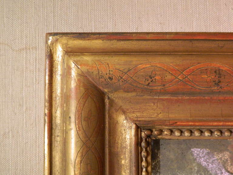 Giltwood 19th Century Louis Philippe Mirror For Sale