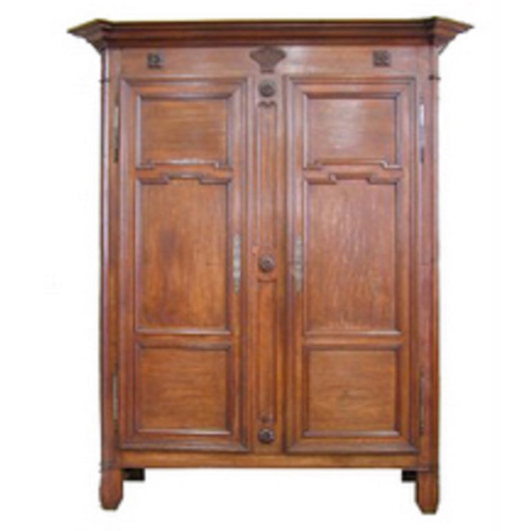 French Moulded and Carved Oak Armoire, Circa 1850