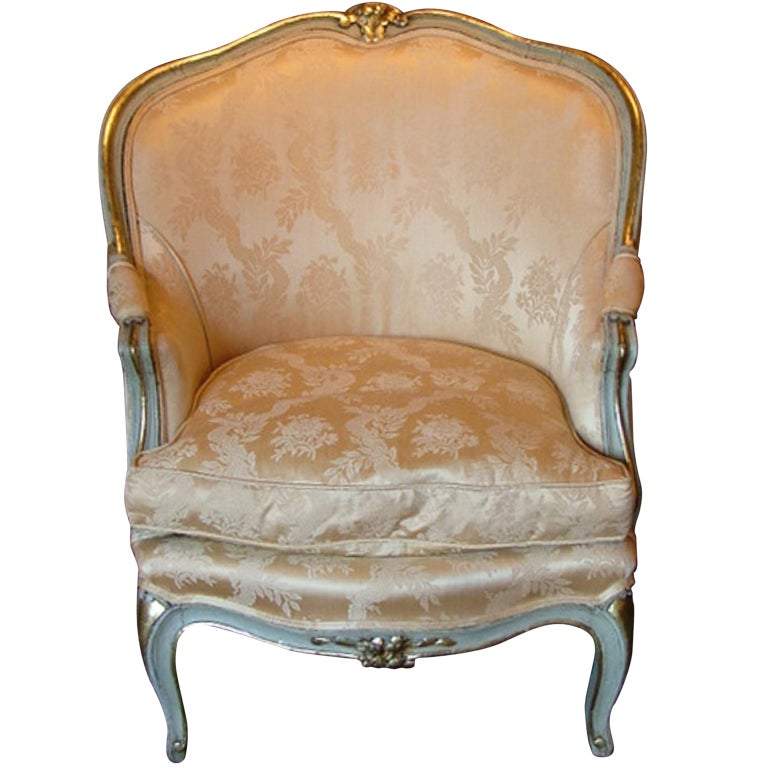 late 19th century louis xvi style painted bergere chair at 1stdibs. Black Bedroom Furniture Sets. Home Design Ideas