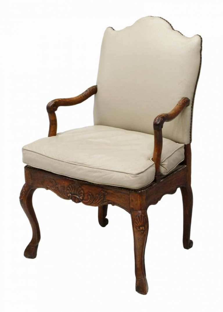 18th Century French Louis XV Style Arm Chair On Cabriole Legs For Sale At 1st