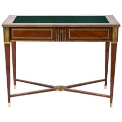 Russian Brass Mounted Mahogany Writing Table or Desk, 19th Century