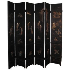 Twelve Panel Japanese Screen