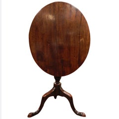 English Oak Tripod Oval Tilt-Top Table, 18th Century
